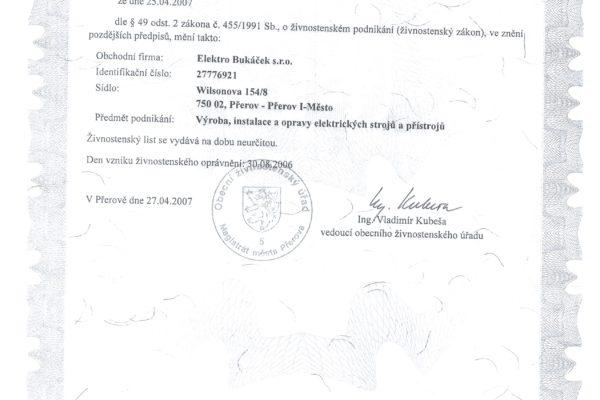 Certifikáty 007