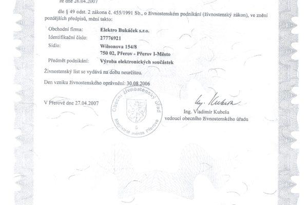 Certifikáty 005
