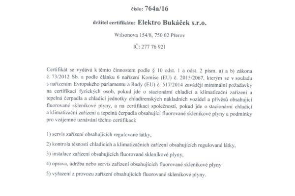 certifikát 001